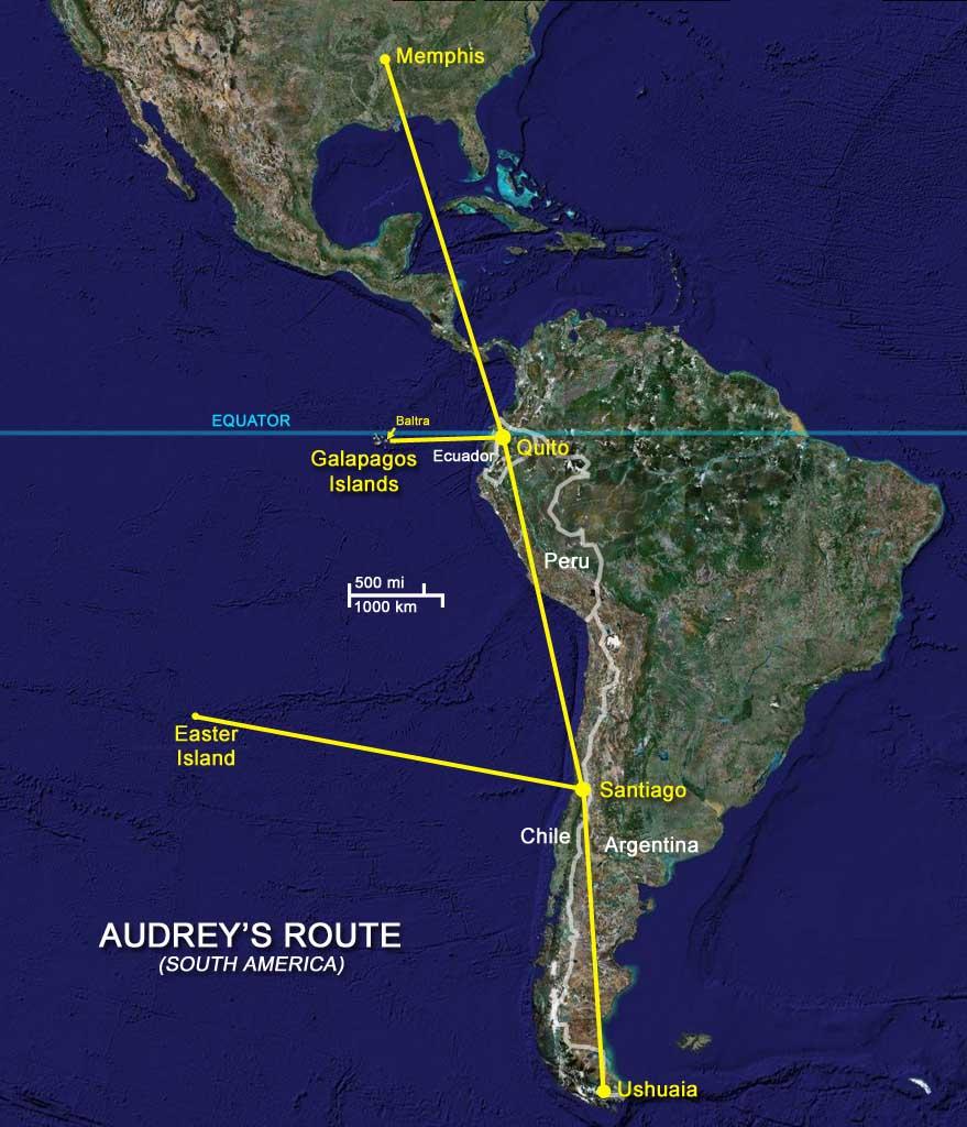 Audrey's Route Maps