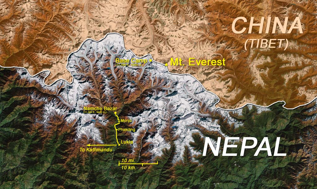 Map: Mt. Everest region