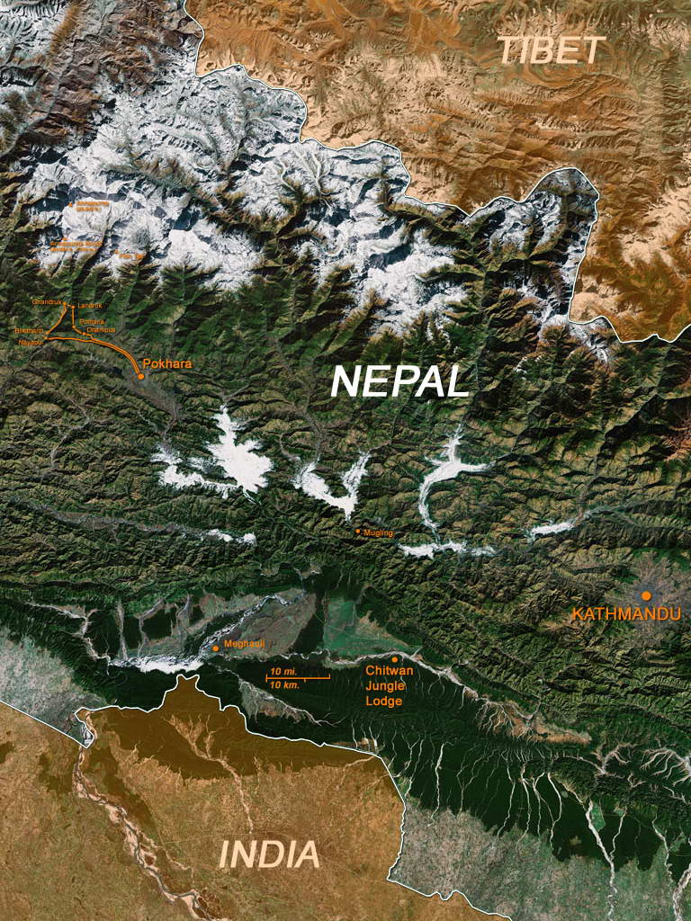 Map: Central Nepal