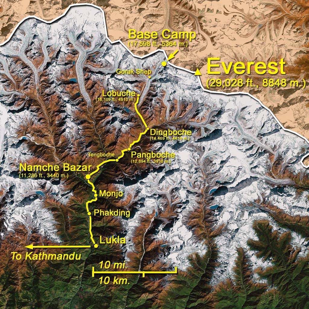 Map: Lobuche