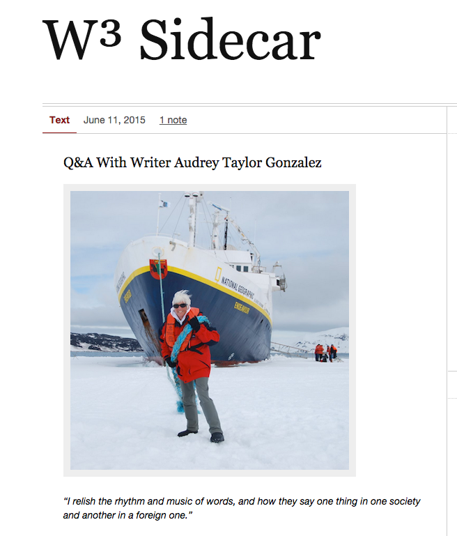 Audrey's Interview on W3Sidecar